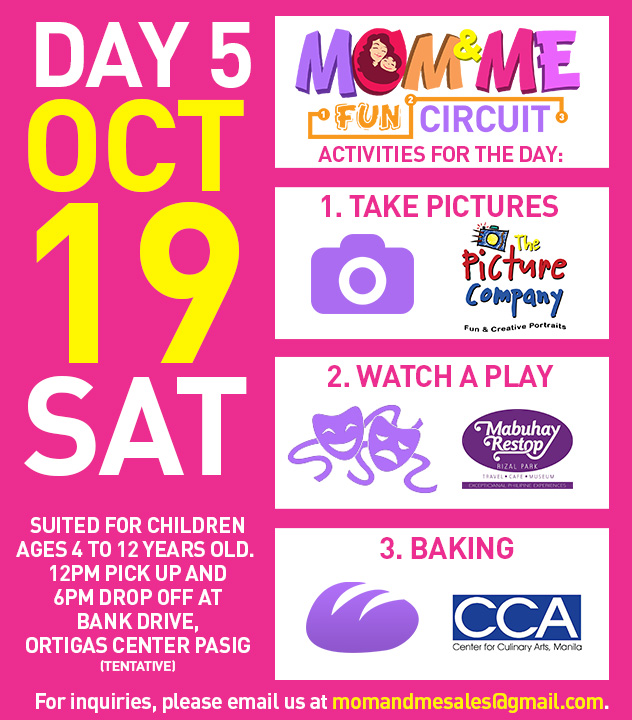Mom and Me Fun Circuit Schedule October 19