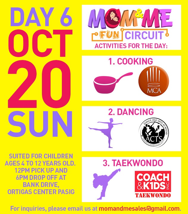 Mom and Me Fun Circuit Schedule October 20