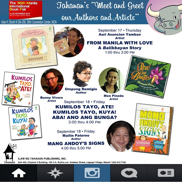BOOK SIGNING SCHED