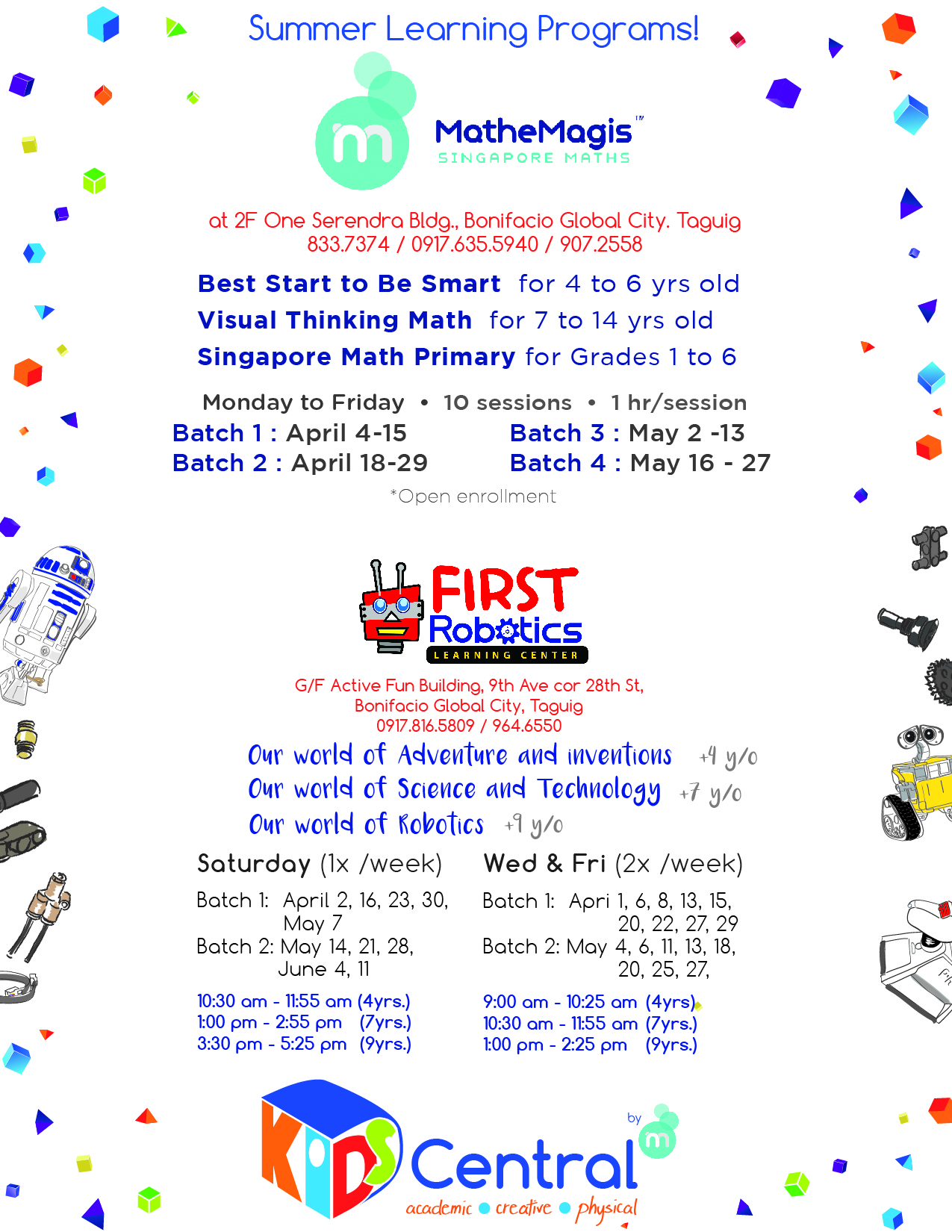 FIRST ROBOTICS @ Kids Central POSTER-BGC